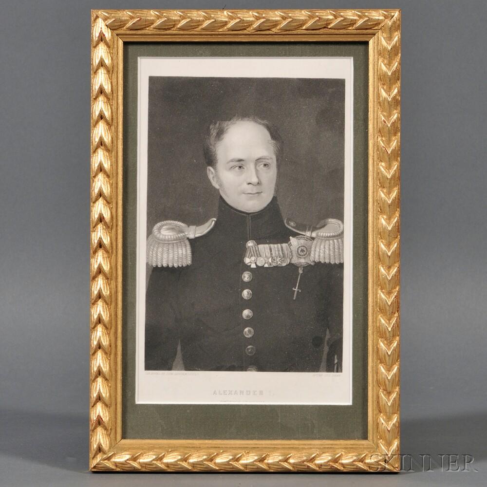 John Sartain (Anglo/American, 1808-1897), After George Dawe (English, 1781-1829)       Alexander I