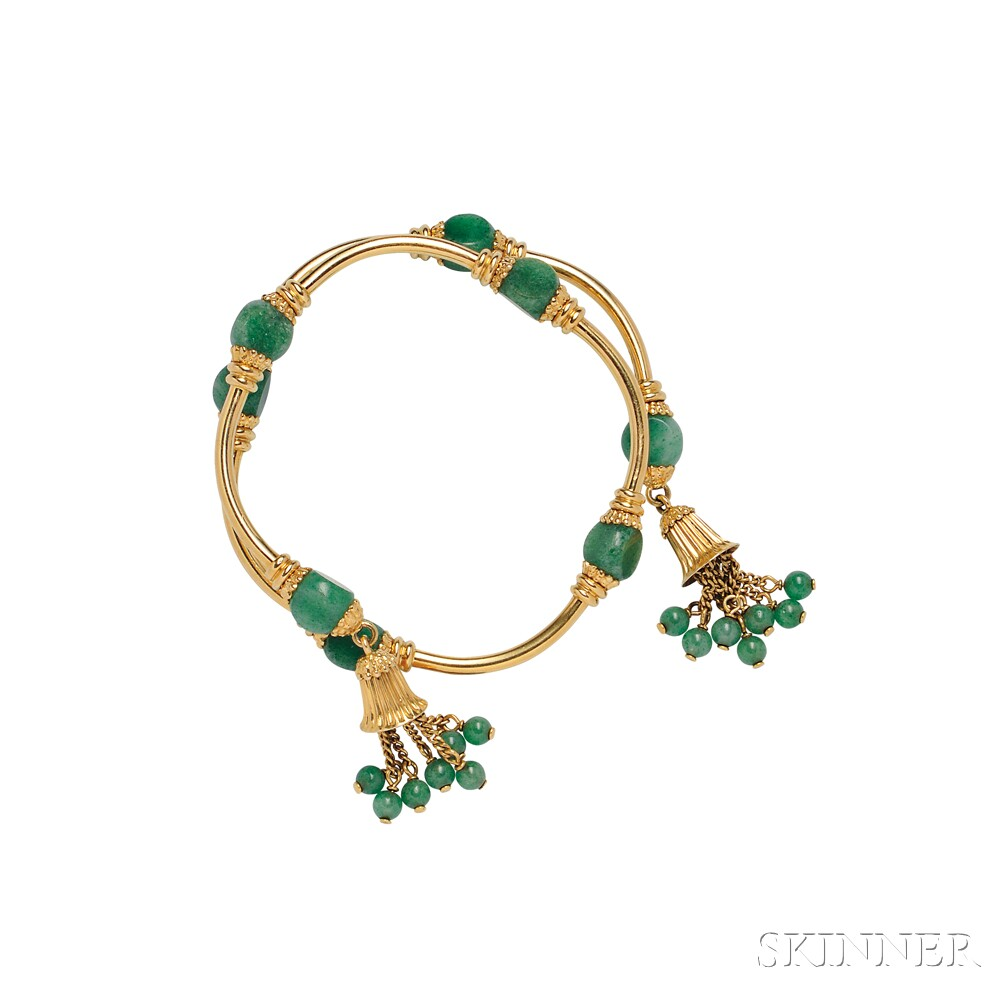 18kt Gold and Aventurine Bracelet