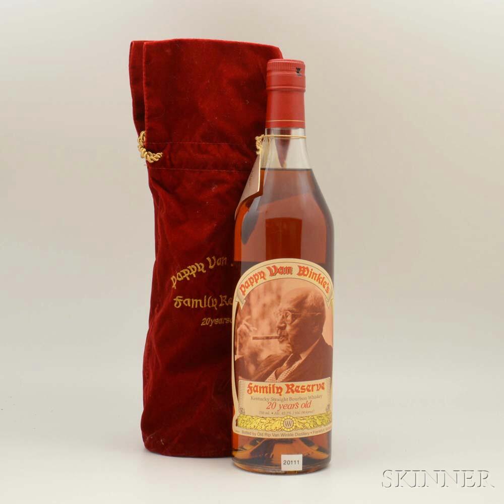 Pappy Van Winkles Family Reserve 20 Years Old, 1 750ml bottle