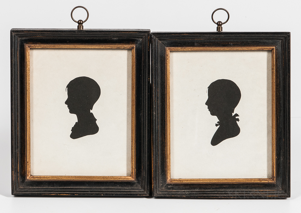 Pair of Peale's Museum Hollow-cut Silhouettes
