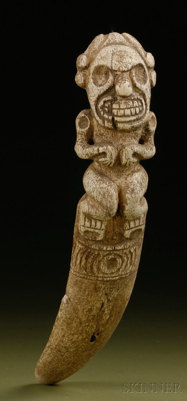 Pre Columbian Carved Bone Vomit Stick Sale Number 2506 Lot Number 58 Skinner Auctioneers