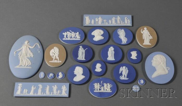Twenty-two Jasper Medallions and Plaques