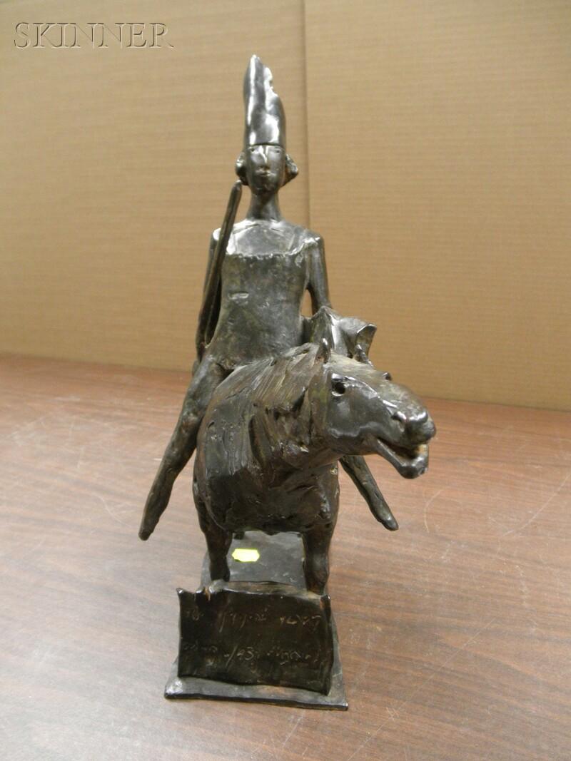 David Aronson (American, b. 1923)      Horse and Rider