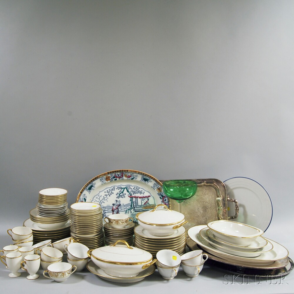 Collection of Decorative Glass and Porcelain Tableware
