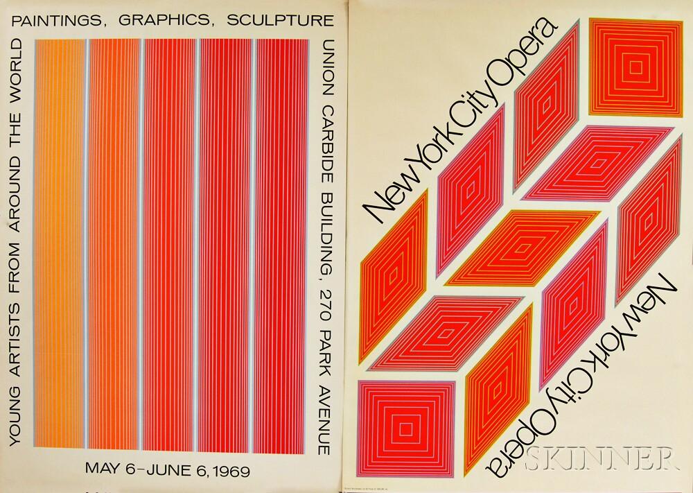 After Richard Anuszkiewicz (American, b. 1930)      Two Posters: New York City Opera