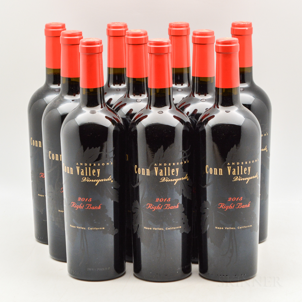Andersons Conn Valley Right Bank Cabernet Franc 2015, 10 bottles