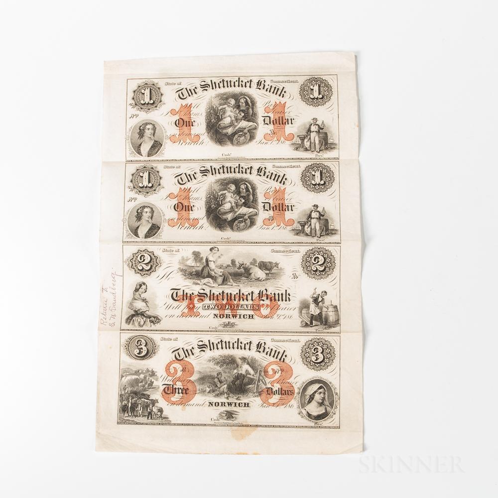 186_ The Shetucket Bank Uncut Sheet
