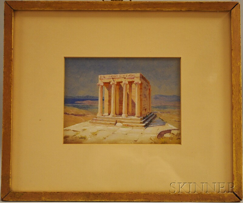 Harold Broadfield Warren (American, 1859-1934)      Temple of Athena Nike