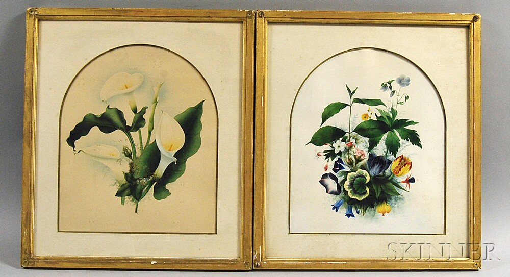 Two Framed Botanical Watercolors