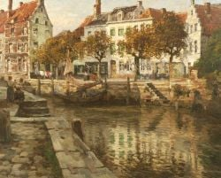 Victor Olivier Gilsoul (Belgian, 1867-1939)  Canal View
