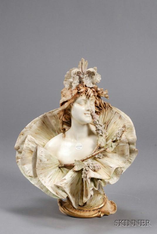 Turn-Teplitz Art Nouveau Bust of a Woman