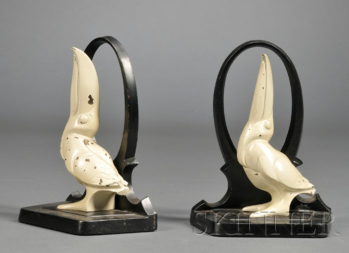Pair of Art Deco Toucan Figural Bookends