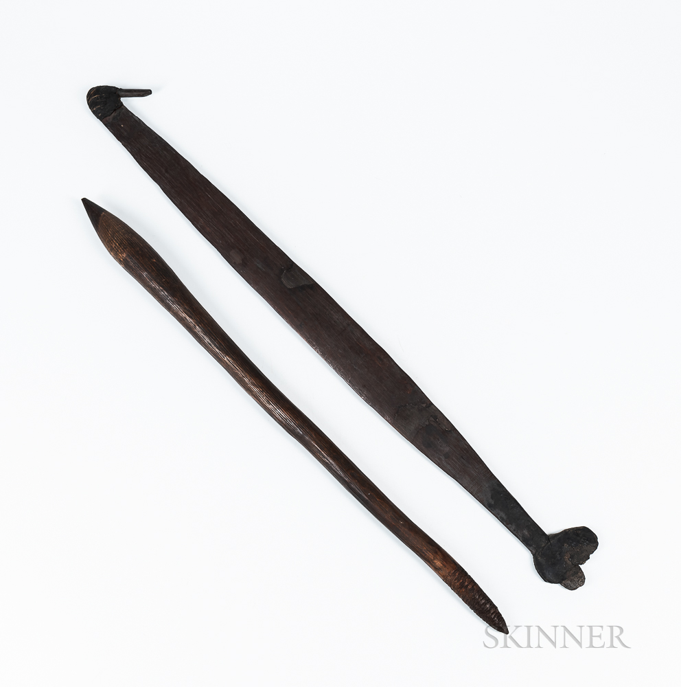 Australian Aborigine Spearthrower and Club