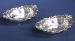 Pair of American Sterling Vegetable Dishes