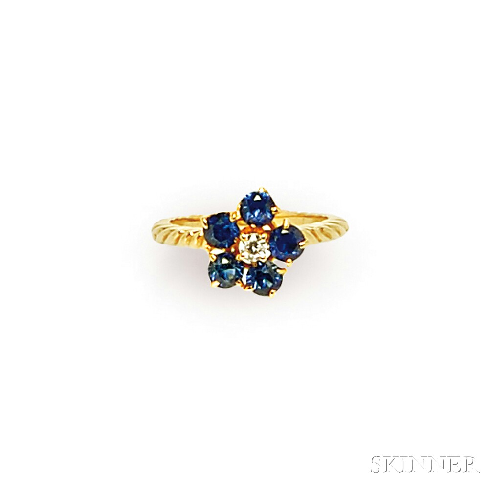 18kt Gold, Sapphire, and Diamond Ring, Van Cleef & Arpels