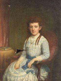 James Sullivan Lincoln (American, 1811-1888)  Portrait of a Little Girl in Blue