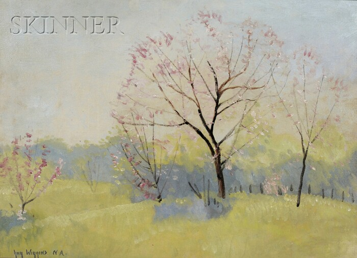 Guy Carleton Wiggins (American, 1883-1962)      Spring Landscape