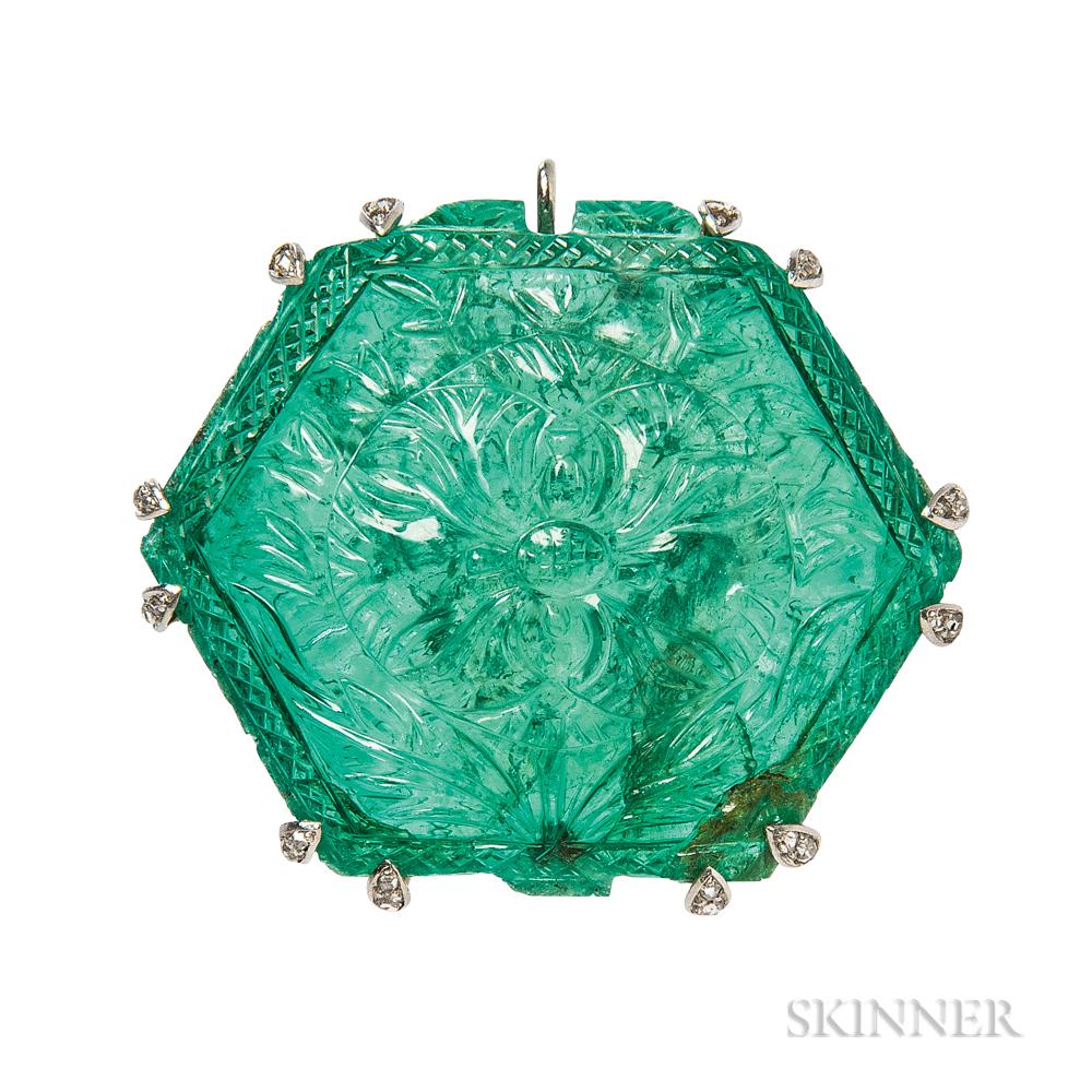 Fine Carved Emerald