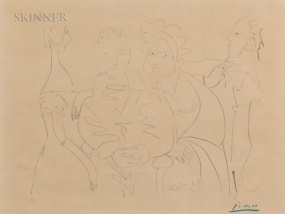 Pablo Picasso (Spanish, 1881-1973)      Portrait de Famille, Quatre personnages