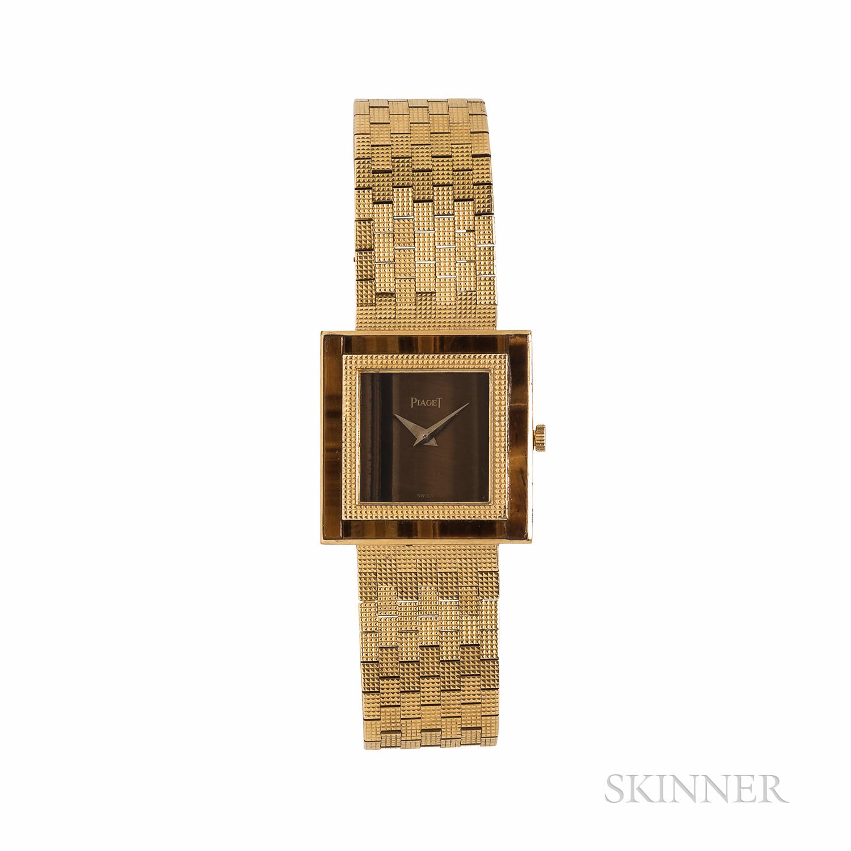 Piaget 18kt Gold and Tiger's-eye Quartz Wristwatch