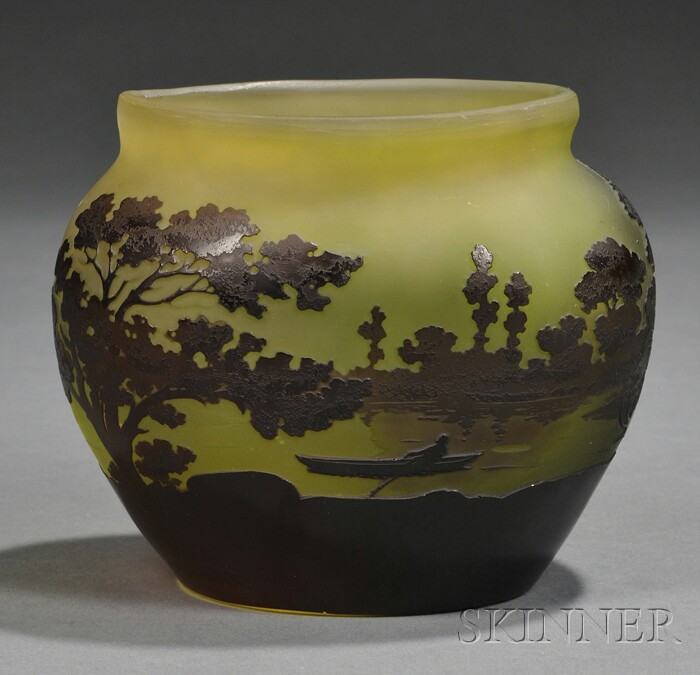 Galle Cameo Glass Vase