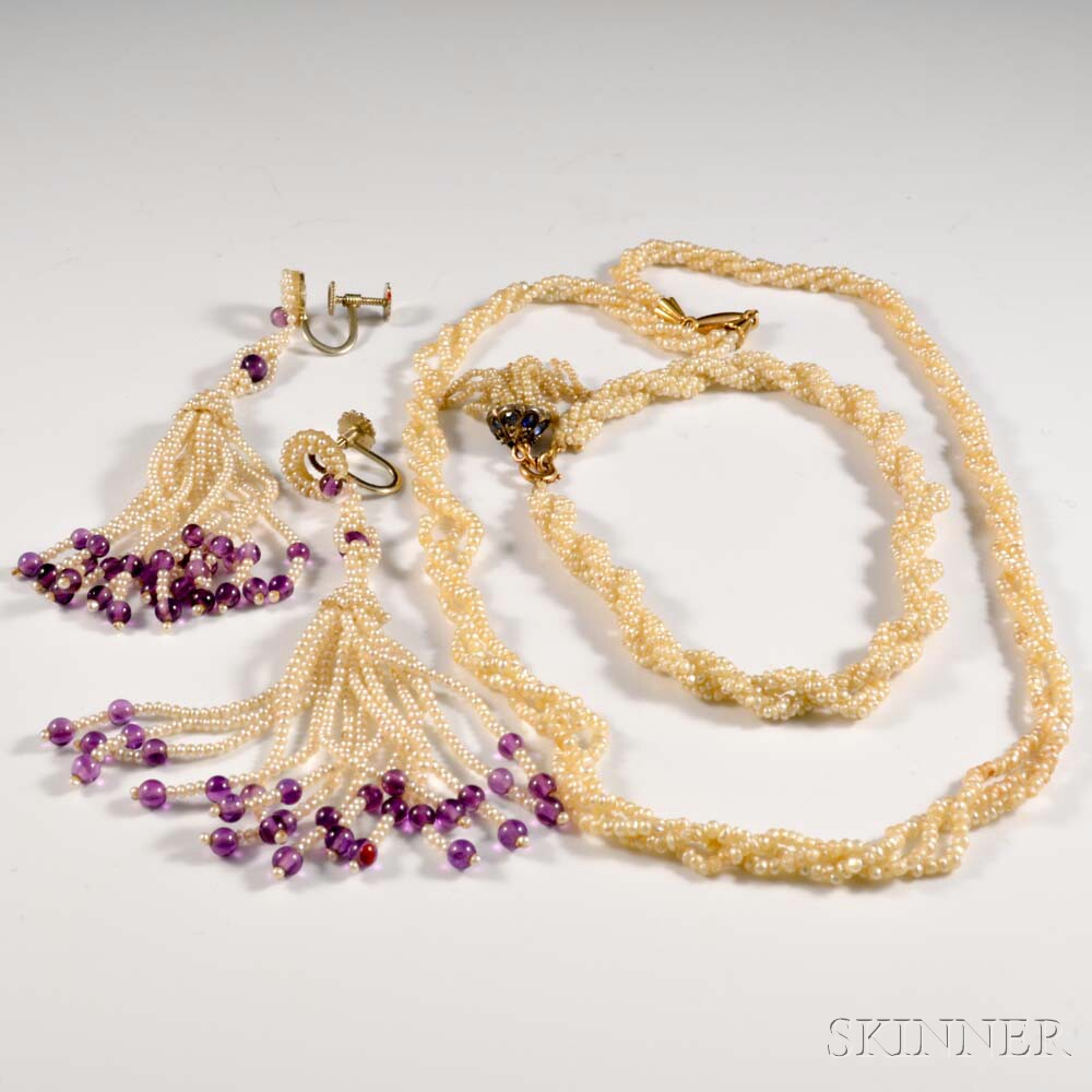 Group of Seed Pearl Jewelry