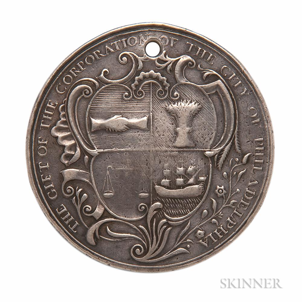 Silver 1756 Kittanning Destroyed Medal