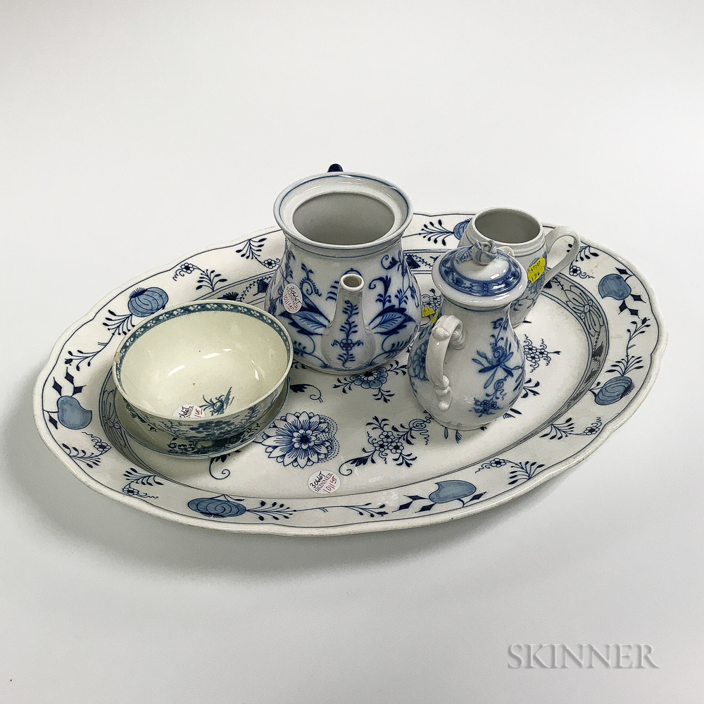 Group of Meissen Blue Onion Serving Pieces