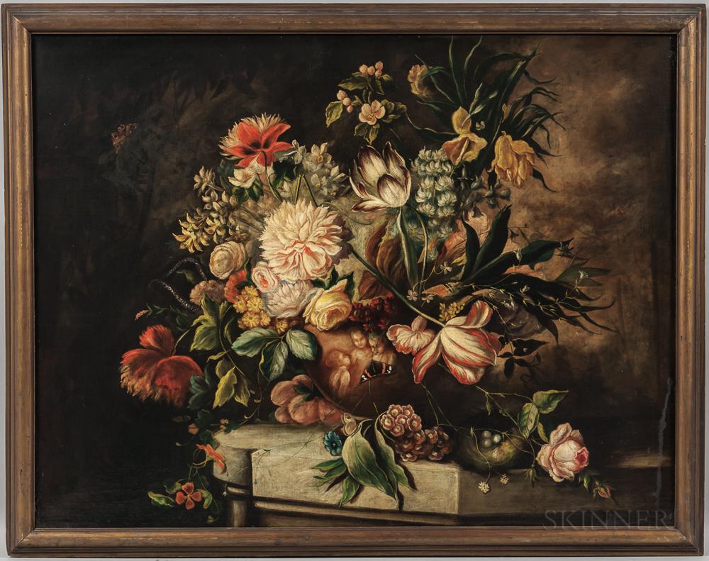 Continental School, 19th/20th Century    Elaborate Floral Still Life