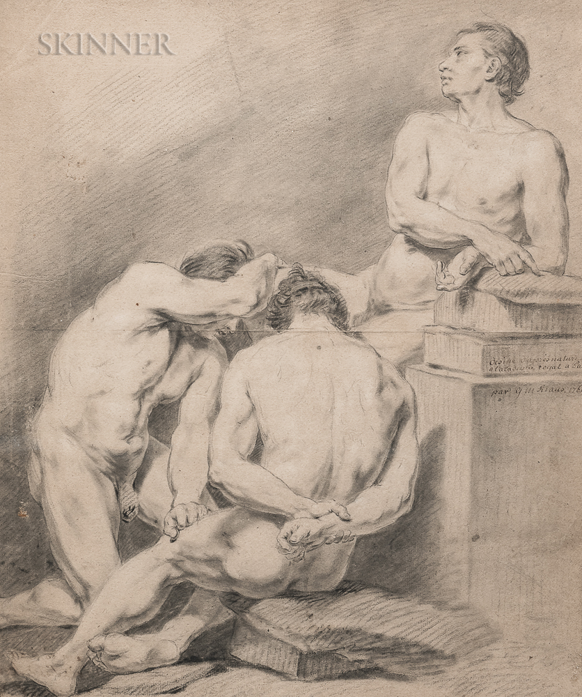 Georg Melchior Kraus (German, 1737-1806)      Study of Three Male Figures