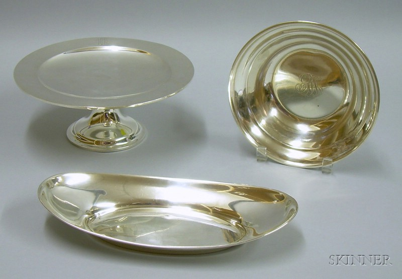 Three Sterling Silver Serving Items