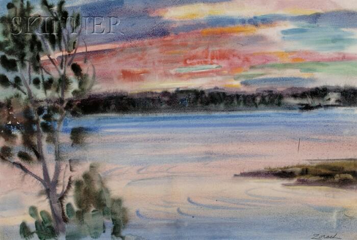 William Zorach (American, 1887-1966)      Sunrise