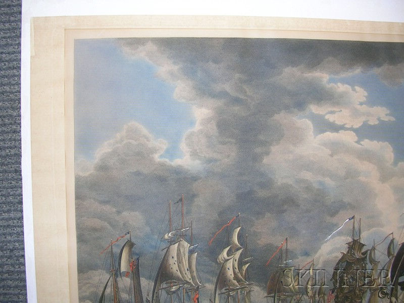 Thomas Sully and Francis Kearny (American, Early 19th Century)      THE BATTLE ON LAKE ERIE.  Fought Sept. 10th 1813-First View.