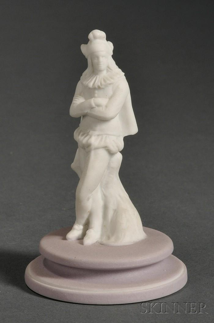Wedgwood White Jasper Figure of a Chess Jester