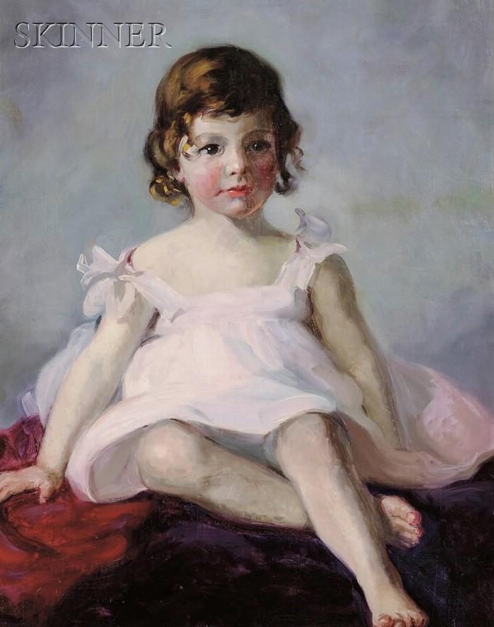Howard Logan Hildebrandt (American, 1872-1958)    Pretty in Pink