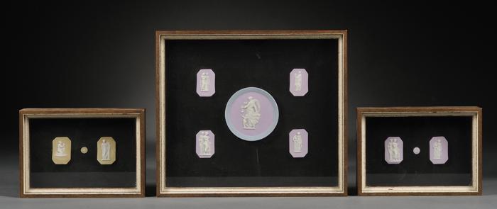 Three Framed Groups of Jasper Dip Medallions