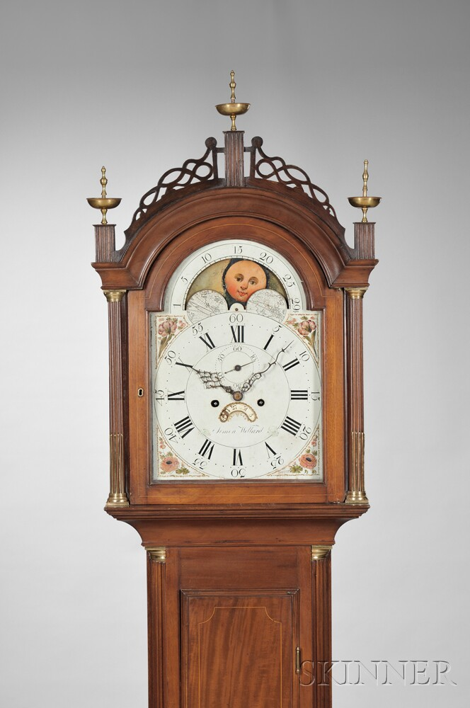 Simon Willard Mahogany Eight-day Tall Clock