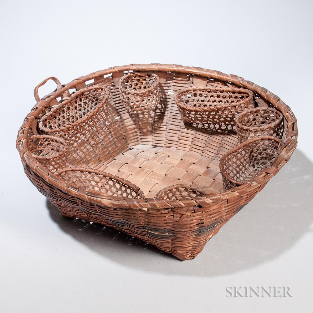 Splint Woven Indian Sewing Basket