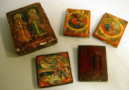 Five Small Russian Icons.