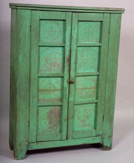 Green Painted Pie Safe