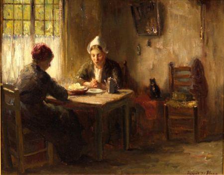 Bernard de Hoog (Dutch, 1867-1943)    At Table