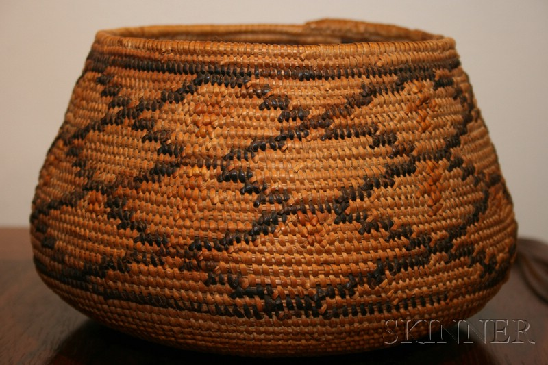 Native American Coiled Basketry Bowl