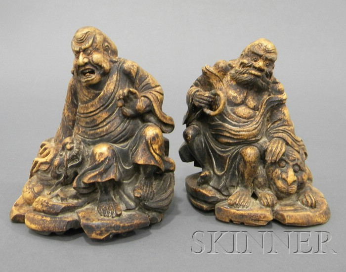 Pair of Bamboo Carvings