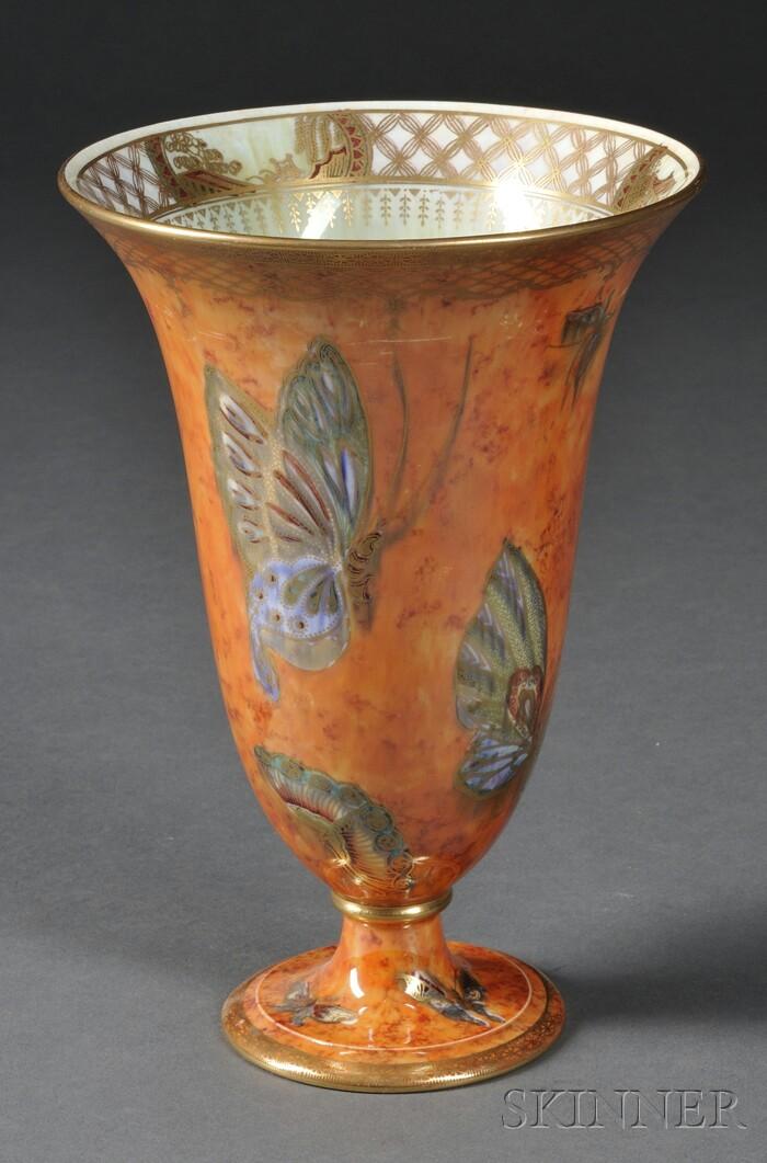 Wedgwood Butterfly Lustre Trumpet Vase