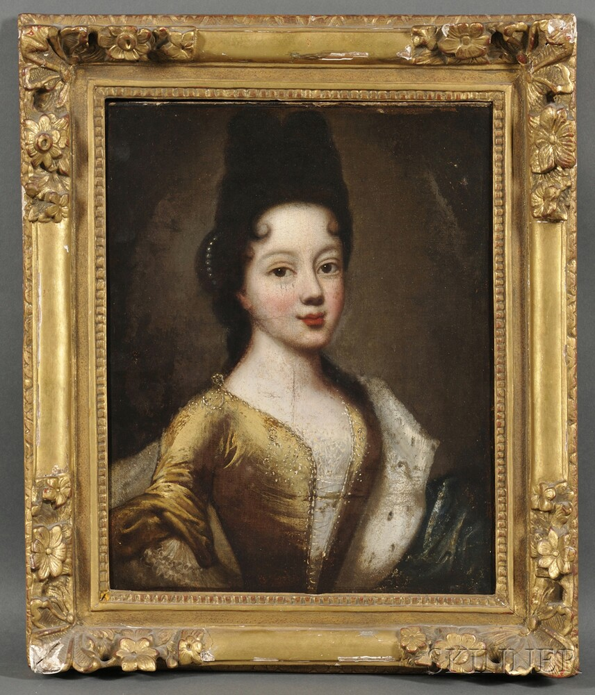Continental School, 17th Century      Portrait of a Young Woman in Yellow