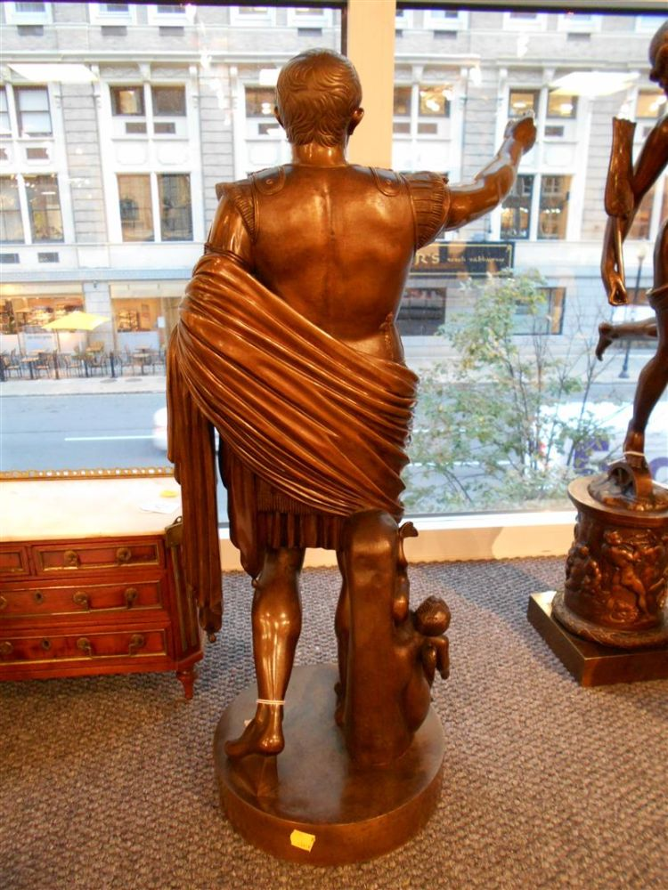 After Benedetto Boschetti (Italian, 1820-1879)       Bronze Figure of Caesar Augustus