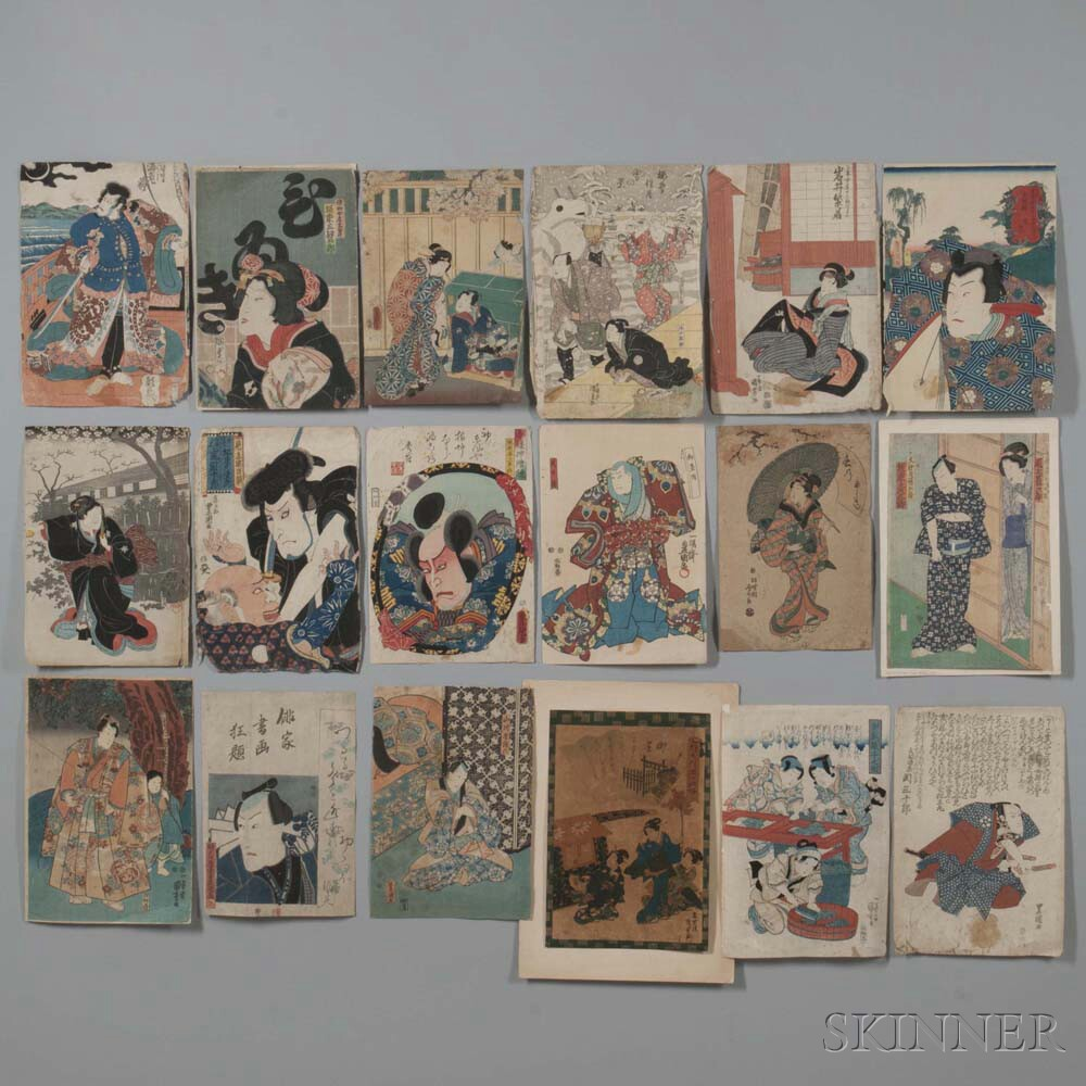 Eighteen Woodblock Prints