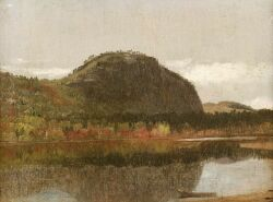 Attributed to Benjamin Champney (American, 1817-1907)  Echo Lake, Cathedral Rock, North Conway