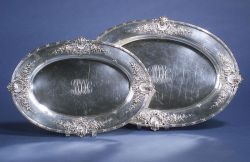Pair of Redlich & Co. Graduated Sterling Platters
