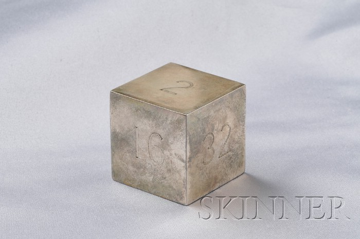 Sterling Silver Backgammon Doubling Cube, Tiffany & Co.